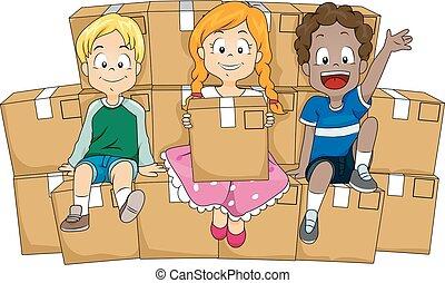 Kids Box Aid Volunteer Boxes