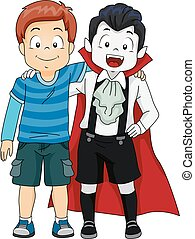 Kids Boys Vampire Best Friend