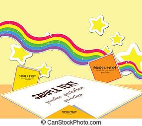 kids card rainbow