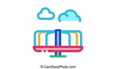 kids carousel Icon Animation