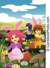 Kids celebrating Easter