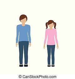 kids character boy and girl european