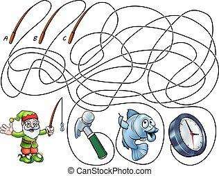 Kids Childrens Maze Lines Game