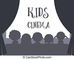 Kids cinema illustration