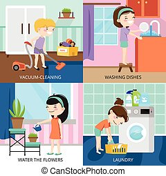 Kids Cleaning 2x2 Design Concept