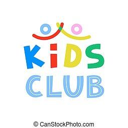 Kids Club Vector Logo Template.