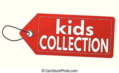 Kids collection label or price tag