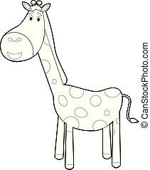 Gosses Animaux Dessin Animé Amusement Girafe Bébé