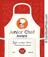 Kids Cooking class certificate design template