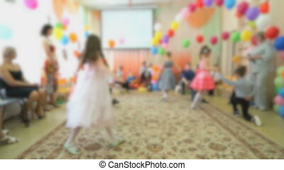 Kids dance at the nursery - Kids dance at the auditorium of...