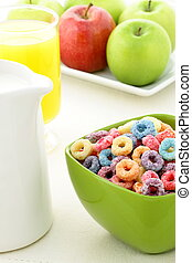 kids delicious and nutritious cereal loops or fruit cereal