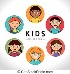 Kids design. - Kids design over white background, vector...