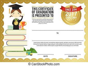 Vector clip art of preschool elementary school kids diploma kids diploma certificate template yadclub Choice Image