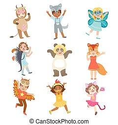 Kids Dressed As Animals Set