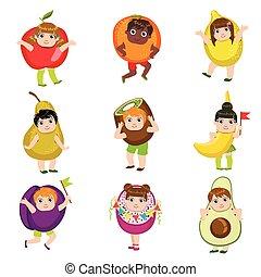 Kids Dressed As Fruits
