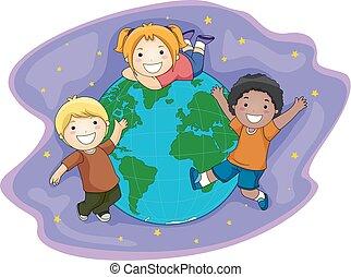 Kids Earth Space Illustration