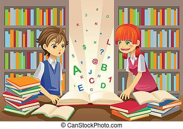 Kids education - A vector illustration of kids education,...