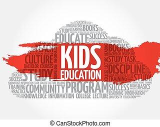 Kids Education word cloud