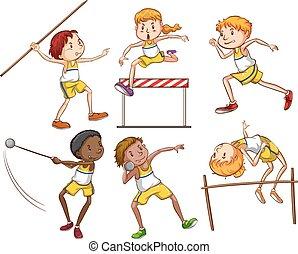Kids engaging in outdoor activities