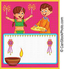Kids enjoying firecracker celebrating Diwali - kids enjoying...