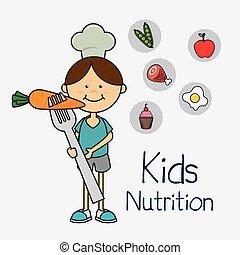 Kids food design. - Kids food design over white background,...