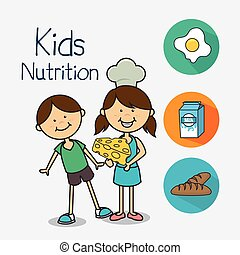Kids food design. - Kids food design over white background,...