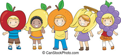 Kids Fruits Costumes