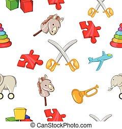 Kids fun pattern, cartoon style