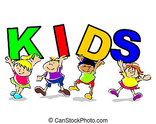 Kids funny illustration