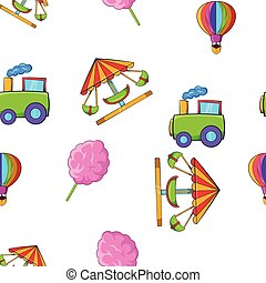 Kids games pattern, cartoon style