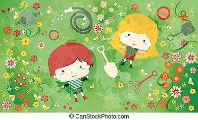 Kids Garden Flowers Tools
