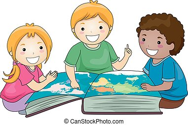 Kids Geography Big Book World Map