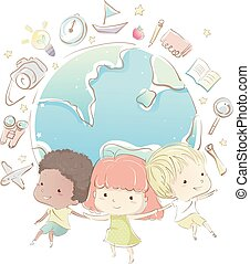 Kids Geography Earth