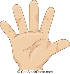 Kid's Hand Showing Five Hand Count - Illustration of Kid's...