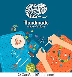 Kids handmade illustration