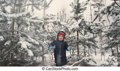 Kids Having Fun in Winter