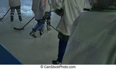 Kids Hockey Players Team - A group of kids ice ochey players...
