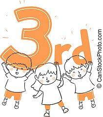 Kids Hold Third Illustration