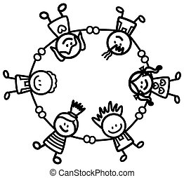 happy kids holding hand eps vectors search clip art illustration rh canstockphoto com Cultural Diversity Cultural Diversity