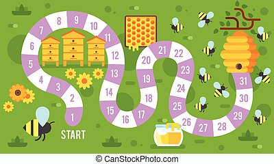 kids honey  board game