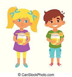 kids honey illustration