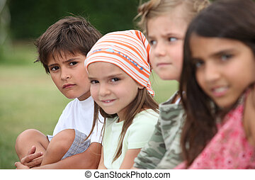 Kids in a park.