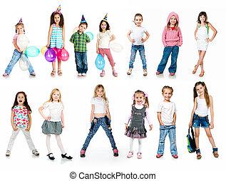 Kids in birthday caps