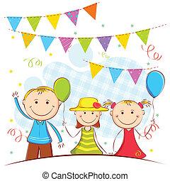 Kids in Celebration Background