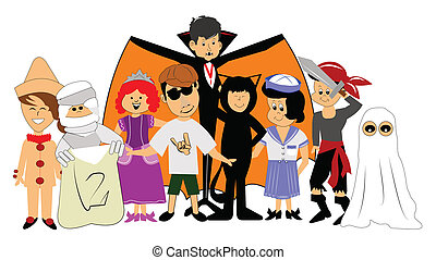 halloween costume vector clip art royalty free 20 268 halloween rh canstockphoto com halloween costumes clipart free halloween costume contest clipart