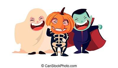 kids in halloween costumes image