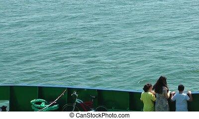 Kids in the ferryboat