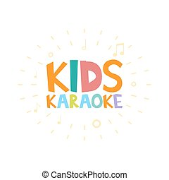 Kids Karaoke party vector illustration