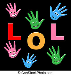 Kids Lol Indicates Laugh Out Loud And Haha