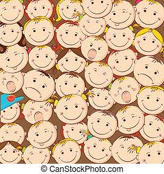 Kids Looking Upward